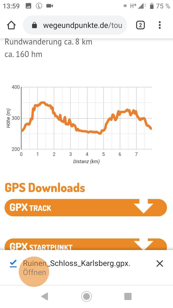 GPX-Track Download auf wegeundpunkte.de