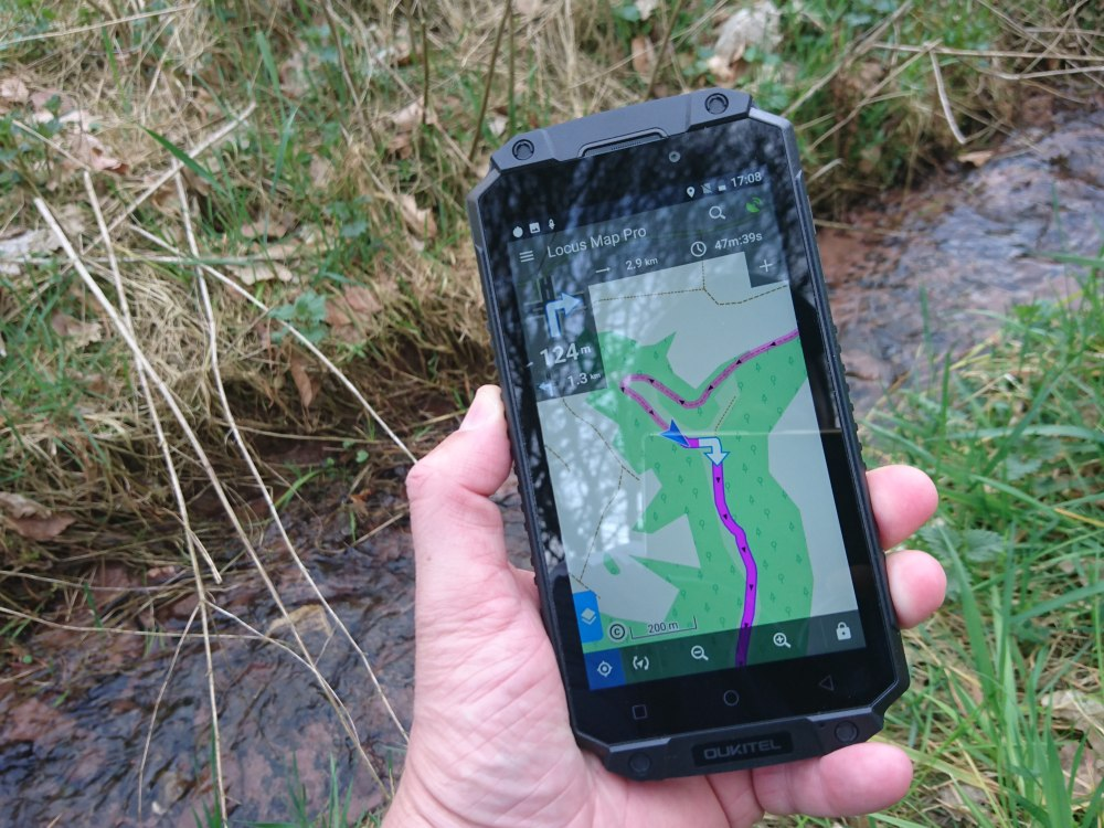 Locus Map auf Rugged Smartphone