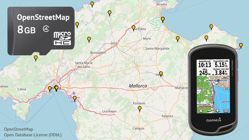 OpenStreetMap auf MicroSD