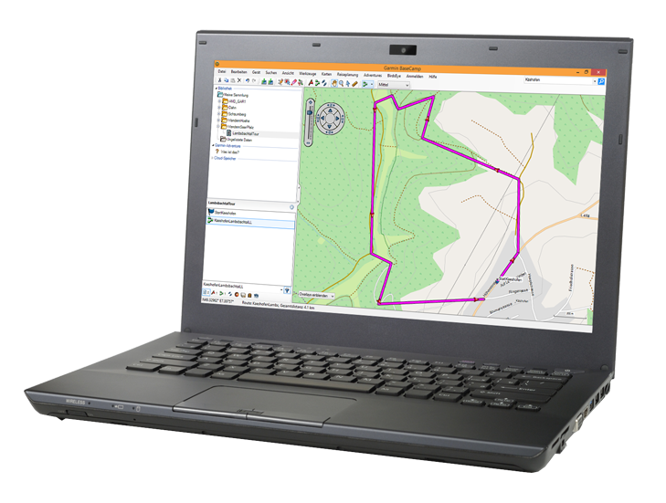 Garmin Basecmap am Laptop