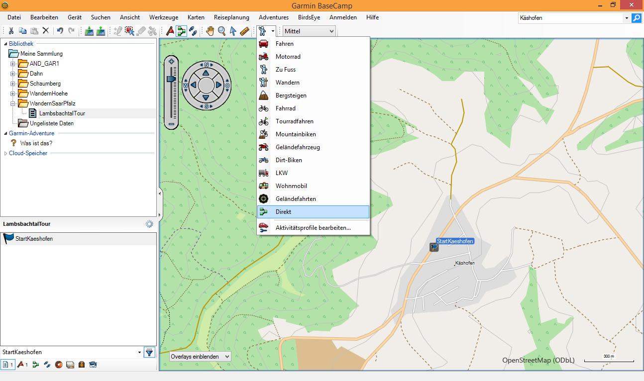 BaseCamp Route Aktivität