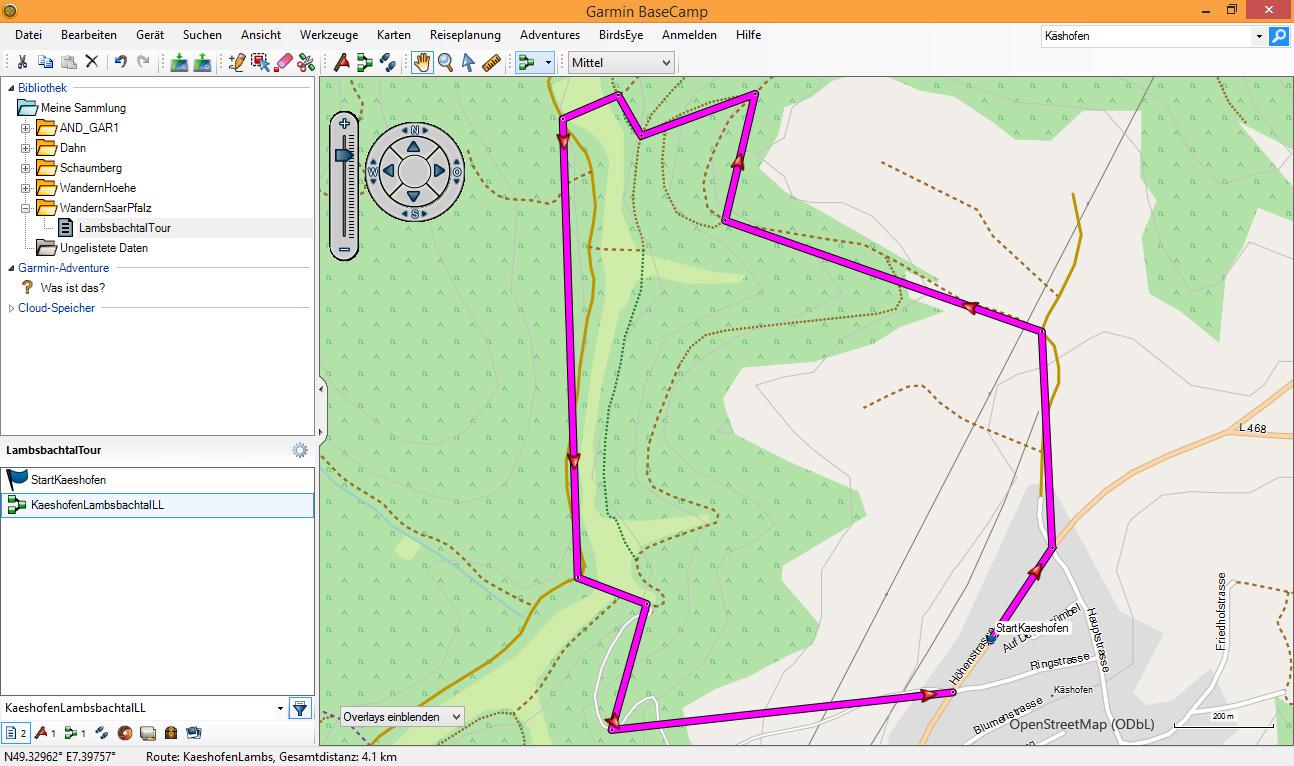 BaseCamp Route Direkt