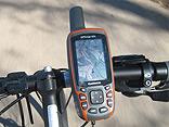 GPS-Gerät mit Fahrradhalterung