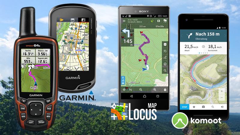 GPS-Tutorials: Garmin, Locus Map, Komoot
