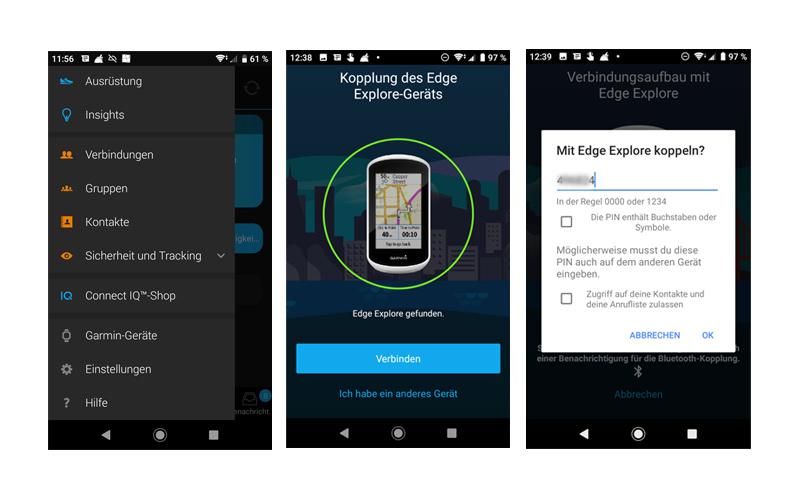 Garmin Connect App: GPS-Gerät koppeln