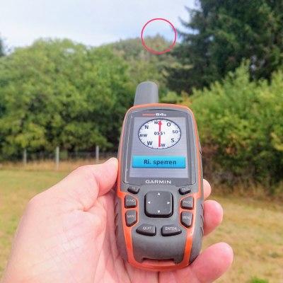 Kompass beim Garmin (Peilen und Los)