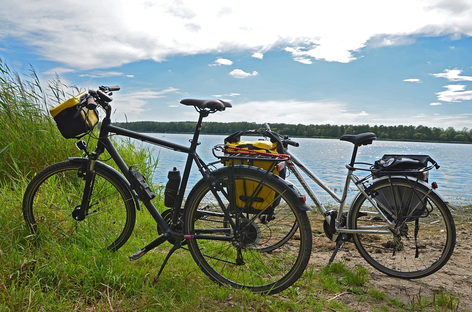 Fahrräder Pause