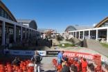 Das Außengelände der Eurobike mit Dirt Jump Parkours