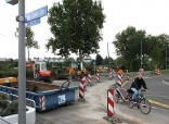 EINEN EIGENEN RADFAHRSTREIFEN gibt es künftig auf der Westseite der Franz-Lust-Straße. Foto: Stadt Karlsruhe
