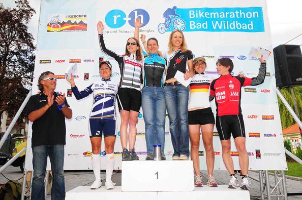 r+h Bike Marathon in Bad Wildbad: Podium Damen