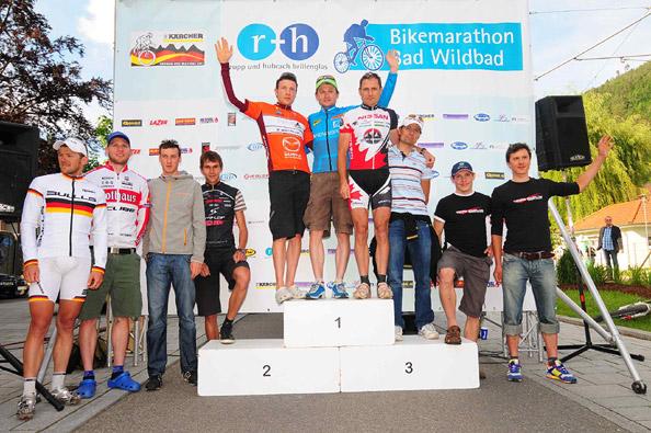 r+h Bike Marathon in Bad Wildbad: Podium Herren