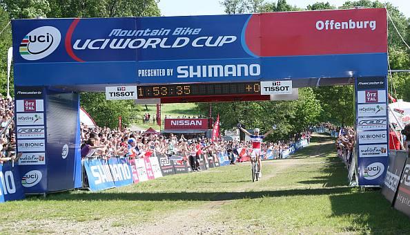 UCI Mountain Bike World Cup Offenburg: Julien Absalons vierter Streich (Copyright: Patrick Reiman)