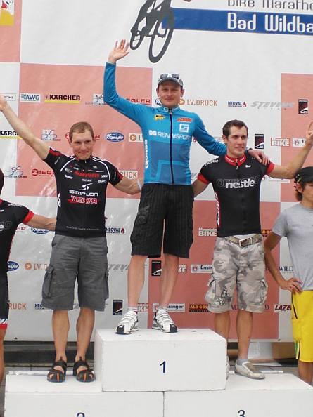 Mountain Bike Marathon Bad Wildbad: Podest
