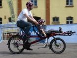 Liegerad, Tandem, Velomobil, E-Bike & Co. locken jedes Jahr im April tausende Besucher nach Germersheim. Auf der 18. Internationalen Spezialradmesse kann man außer staunen auch probefahren.Foto: Spezialradmesse