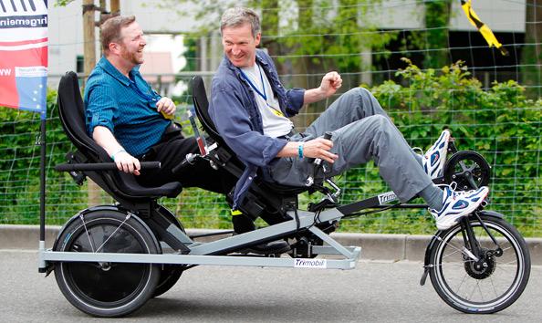 Spezialrad selbst (er)fahren: Große Probeparcours werden im kommenden April viele Radfans auf die 20. Internationale Spezialradmesse 2015 locken. Foto: Spezialradmesse