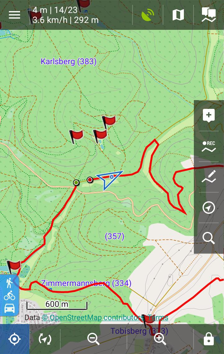 GPX-Track auf Locus Map