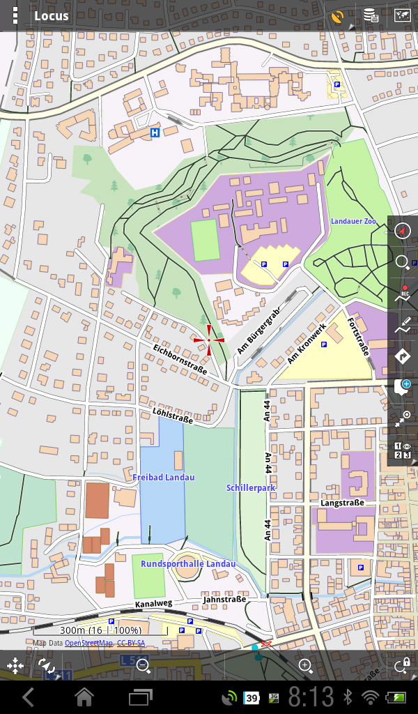 Digitale OSM-Karte in Locus