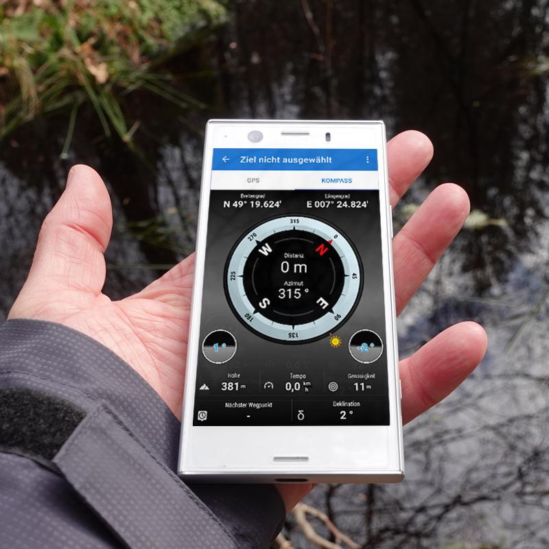 Digitaler Kompass beim Android Smartphone
