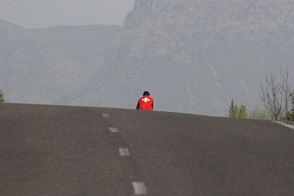 Hügelige Strecke nach Petra