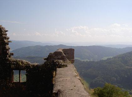 Ausblick vom Hohengeroldseck