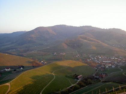 Ausblick vom Schloss Staufenberg