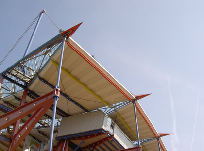Haupttribüne Wildparkstadion Karlsruhe