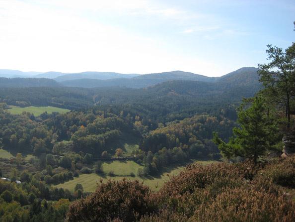 Blick vom der Aussichtsplattform