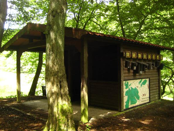 Hütte beim Hodenbachweiher