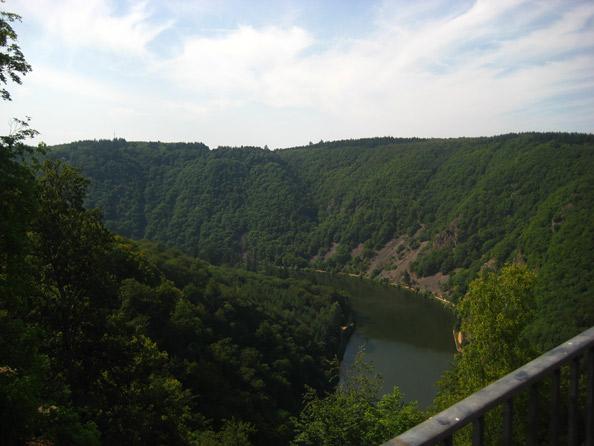Blick von Montclair auf die Saarschleife