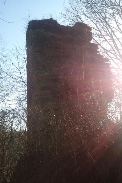 Ehem. Wohnturm Burgruine Bundenbach