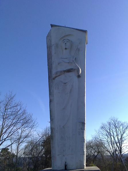 Monte Barbara Bexbach,  Statue Heilige Barbara