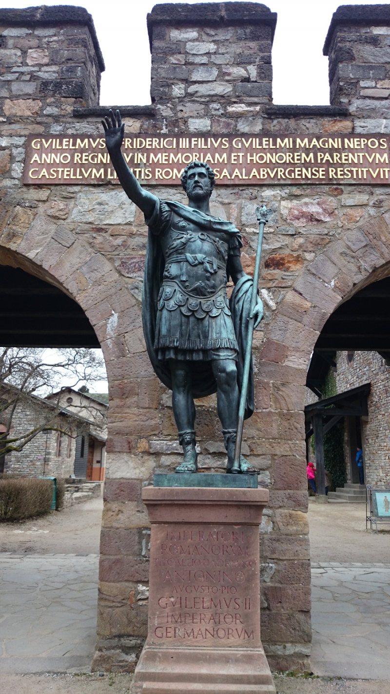Saalburg: Bronzestatue des Antoninus Pius