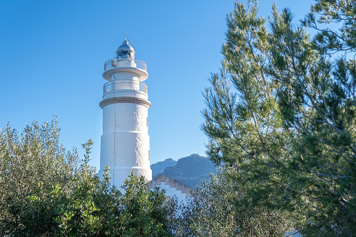 Leuchtturm Far del Cap Gros (Port de Sóller )