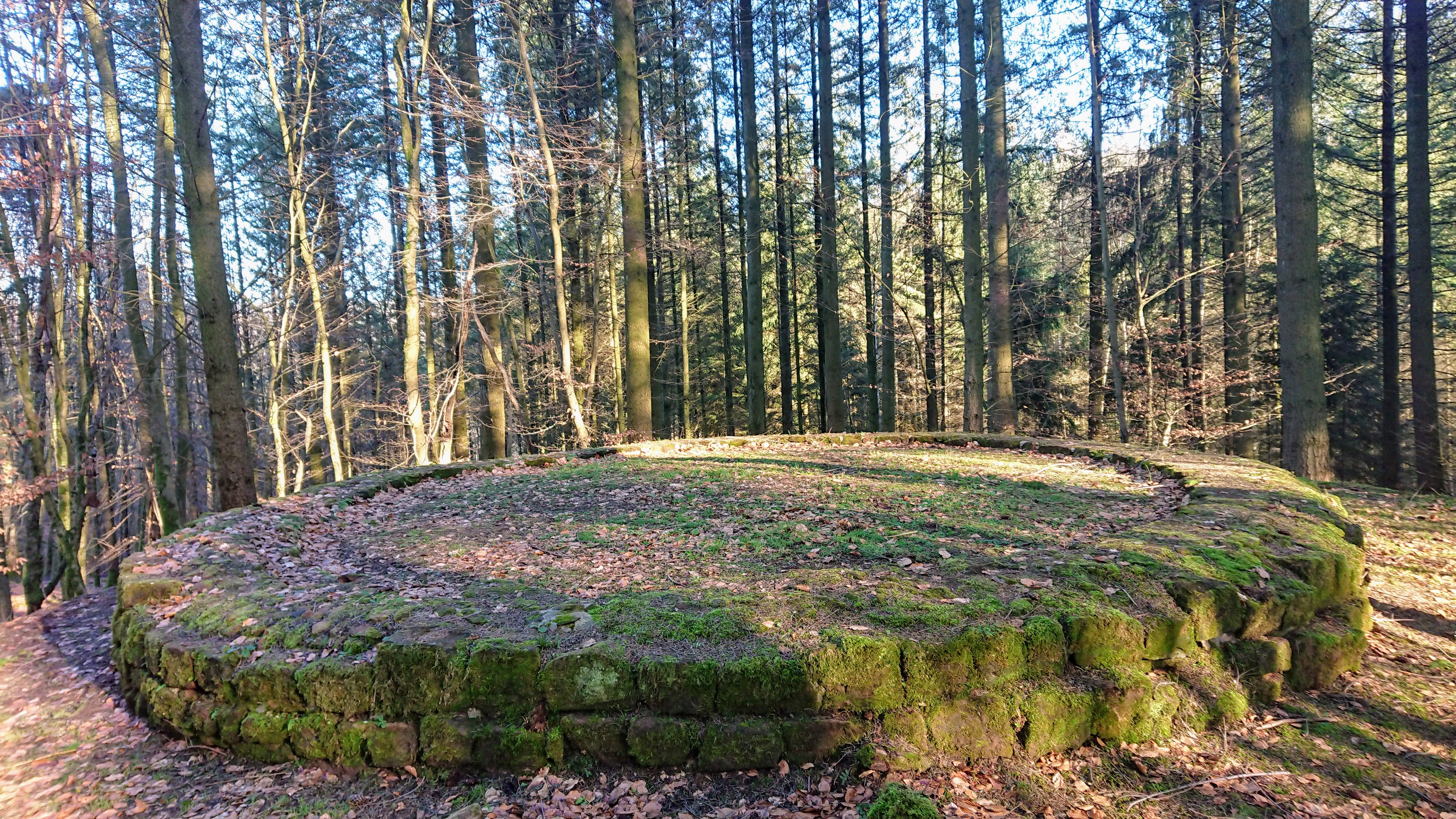 Fundament-Mauern der Eremitage