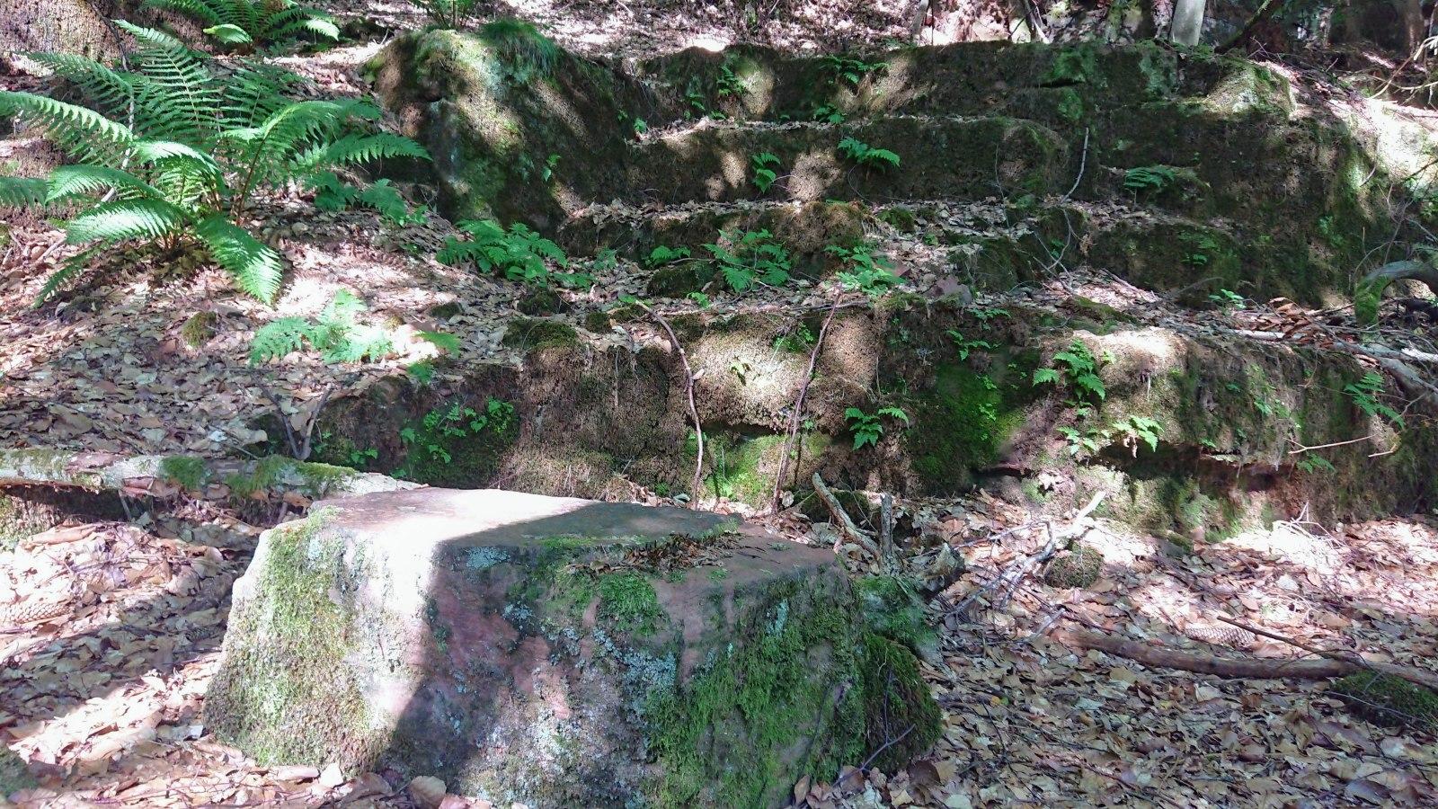 Sandsteinblock im Steinbruch
